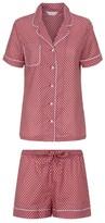 Derek Rose Cotton Ledbury Short Pyjama Set