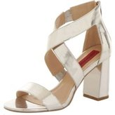 Dorothy Perkins Womens *London Rebel Metallic block heel sandals- Silver