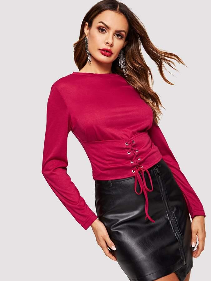 1ac0823d5b05 Lace Sleeves Corset - ShopStyle