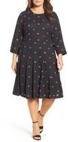 Melissa McCarthy Plus Size Women's Surplice Fit & Flare Dress