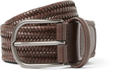Anderson's - 3.5 Brown Woven Leather Belt