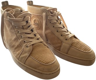 Christian Louboutin Louis Camel Suede Trainers