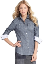Brooks Brothers Chambray Camp Shirt