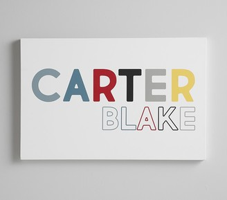 Pottery Barn Kids Personalized Stretched Canvas Art