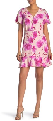 Collective Concepts Short Sleeve Floral Dress