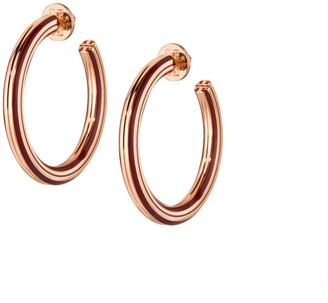 Tory Burch Stretched-T Logo Hoop Earring