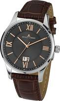 Jacques Lemans Men Analogue Watch with Grey Dial Analogue