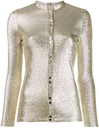 Paco Rabanne metallic buttoned top