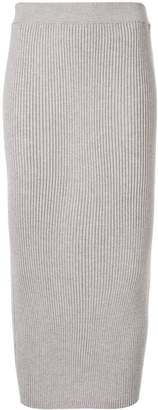 TOMORROWLAND ribbed-knit midi skirt