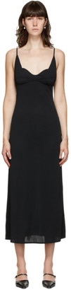 Jil Sander Black Bustier Tank Dress
