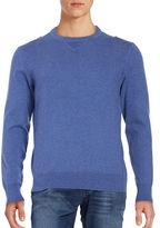 Black Brown 1826 Cotton-Blend Crewneck Sweater