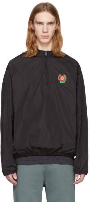 Yeezy Black Half Zip Windbreaker Jacket