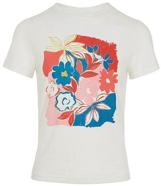 Emily And Fin Asilah Floral Cotton Linen T Shirt - 10
