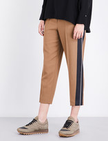 Brunello Cucinelli Cropped twill trousers