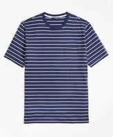 Brooks Brothers Supima® Cotton Stripe Tee Shirt