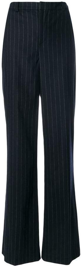 Pierre Balmain flared pinstripe trousers