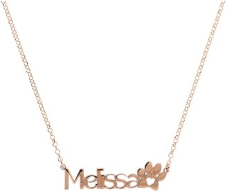 Italian Silver Personalized Name Paw Print Necklace