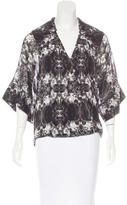 Thomas Wylde Silk Surplice Top
