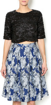 Lucy Paris Sequin Crop Top