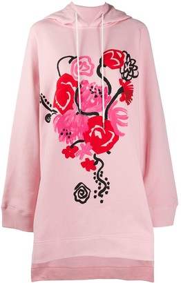 Marni Painterly-Print Hoodie Dress