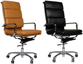 Joseph Allen Eames Style Premium Executive Black Leather Office Chair