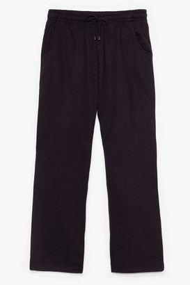 Nasty Gal Womens Let's Run High-Waisted Tapered Joggers - Black - 18/20