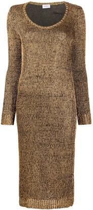 Salvatore Ferragamo Scoop-Neck Knitted Dress