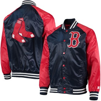 Men's Starter Navy/Red Boston Red Sox The Lead Off Hitter Full-Snap Jacket