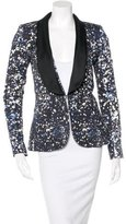 Prabal Gurung Printed Shawl-Lapel Blazer w/ Tags