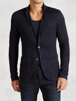 John Varvatos Patch Pocket Sweater Blazer