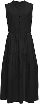 Ciao Lucia Freya Tiered Cotton Midi Dress