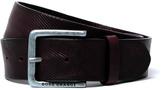 Boss Orange Jeeky Dark Brown Embossed Leather Belt