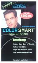 L'Oreal Color Smart Haircolor for Men Medium Brown (One Application)