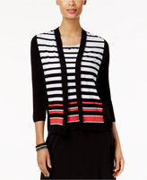 Alfred Dunner Saratoga Springs Striped Layered-Look Top