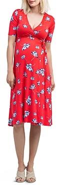Nom Maternity Maya Floral Print During & After Wrap Dress