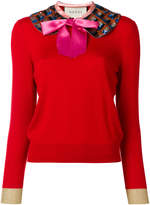 Gucci knit top with detachable collar