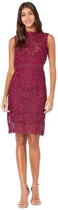 Bardot Eleni Lace Dress (Burgundy) Women's Dress