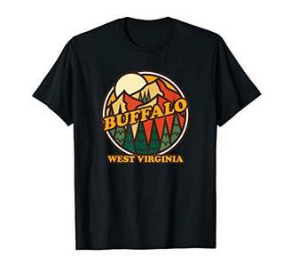 Buffalo David Bitton Vintage West Virginia Mountain Hiking Souvenir Print T-Shirt