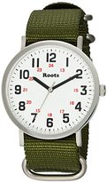 Roots 'Core' Quartz Stainless Steel and Nylon Casual Watch, Color:Green (Model: 1R-LF130WH7G)