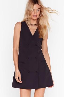 Nasty Gal Womens Business Meets Pleasure Blazer Mini Dress - Black - 10