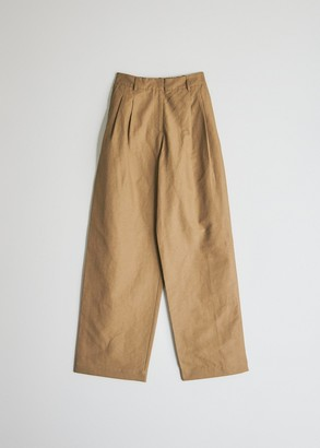 Mijeong Park Women's Elastic Waist Pant in Camel, Size Extra Small