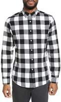 Slate & Stone Men's Trim Fit Buffalo Plaid Flannel Sport Shirt