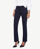 Ann Taylor The Petite Straight Leg Pant in Cotton Sateen - Kate Fit