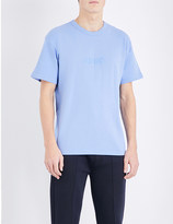 Kenzo Logo-embroidered cotton-jersey and stretch-cotton t-shirt