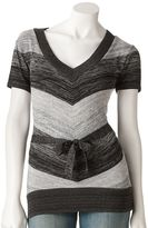 Iz Byer california space-dyed striped sweater