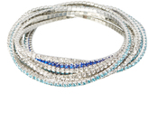 Love Rocks Blue Crystal Stretch Bracelet Set