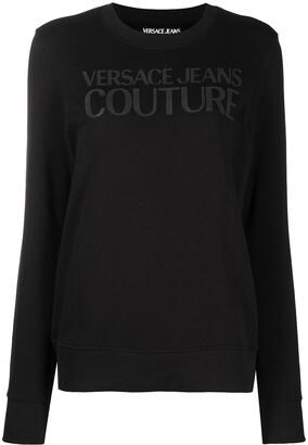 Versace Jeans Couture Logo-Print Cotton Sweatshirt