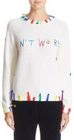 Mira Mikati Women's 'Don'T Worry' Crewneck Wool Sweater