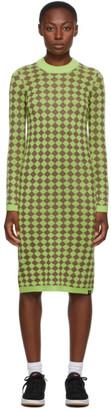 Stussy Green Melange Checker Dress