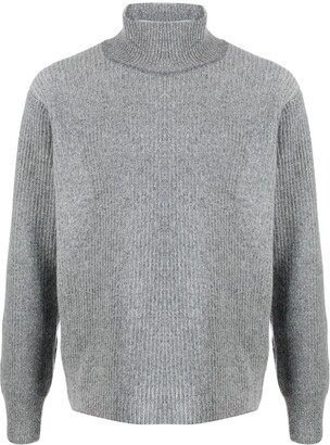 MAISON KITSUNÉ ribbed turtleneck jumper